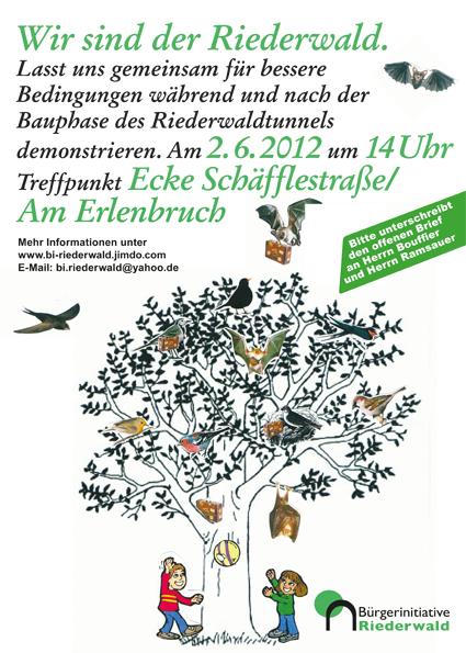 Bürgerinitiative Riederwald Plakat